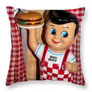 Big Boy Throw Pillow by Kristin Elmquist
