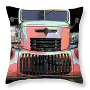 Big Chevy Rig Throw Pillow