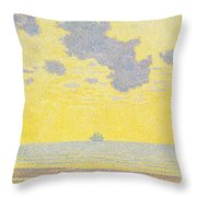 Big Clouds Throw Pillow by Theo van Rysselberghe
