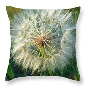 Big Dandelion Seed Throw Pillow