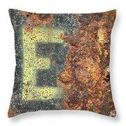 Big E Throw Pillow