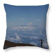 Big Island - Island Of Hawaii - View From Haleakala Maui Throw Pillow