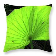 Big Leaf Throw Pillow