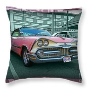 Big Pink Dodge Throw Pillow