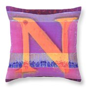 Big Pink N Throw Pillow by Carol Leigh