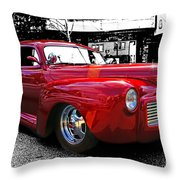 Big Red Abstract Throw Pillow