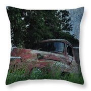 Big Red Lie For Dead Throw Pillow