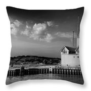 Big Red Lighthouse In Holland Michigan Throw Pillow