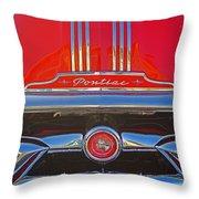 Big Red Pontiac Throw Pillow