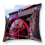 Big Red Wheel Throw Pillow