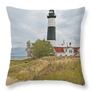 Big Sable Lighthouse Throw Pillow