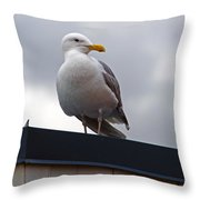 Big Seagull Throw Pillow