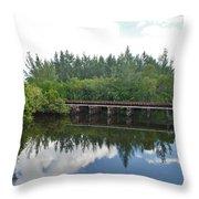Big Sky And Docks On The River Throw Pillow