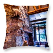 Big Sky Lodge Interior Throw Pillow