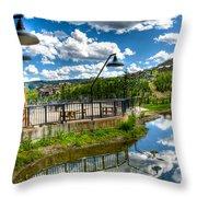Big Sky Ski Resort II Throw Pillow