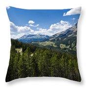 Big Sky Ski Trails Throw Pillow