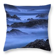 Big Sur Mist Throw Pillow