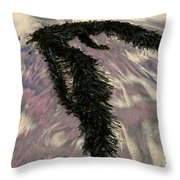 Big Sur Sand And Algae Throw Pillow