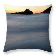 Big Sur Silk Throw Pillow