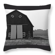 Big Tooth Barn Black And White Throw Pillow