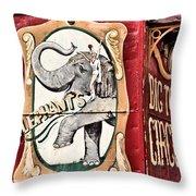 Big Top Elephants Throw Pillow