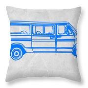 Big Van Throw Pillow by Naxart Studio