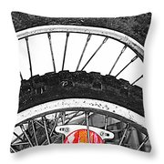 Big Wheels Keep On Turning Throw Pillow by Empty Wall