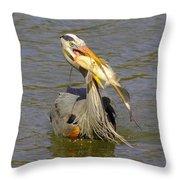 Bigger Fish To Fry Throw Pillow
