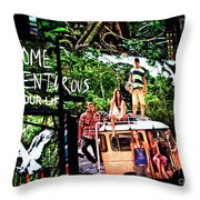 Billboards In Times Square Throw Pillow