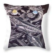 Billfish Ladies Shirt Throw Pillow