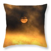 Billowing Sunrise Throw Pillow