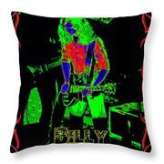 Billy Gets Psychedelic Throw Pillow