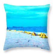 Biloxi Beach Throw Pillow by Scott Crump