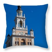 Coral Gables Biltmore Hotel Tower Throw Pillow