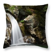 Bingham Falls Stowe Vermont Throw Pillow
