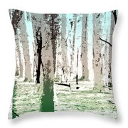 Birch Forest Throw Pillow