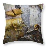Birch Tree Bark No.0863 Throw Pillow
