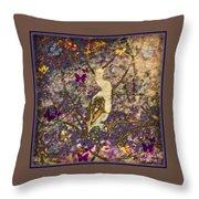 Bird And Butterflies Throw Pillow