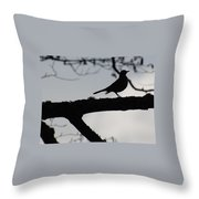 Bird At Dusk Throw Pillow