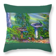 Bird Baths Throw Pillow