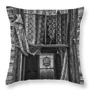 Bird Flew Out The Window Throw Pillow