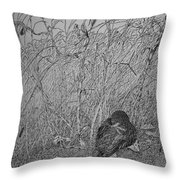 Bird In Winter Throw Pillow