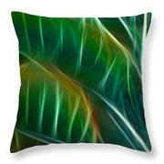 Bird Of Paradise Fractal Panel 3 Throw Pillow