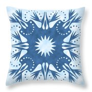 Bird Of Paradise Hawaiian Quilt Block Throw Pillow