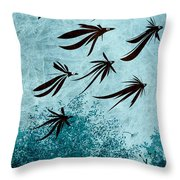 Birdeeze -v03 Throw Pillow by Variance Collections