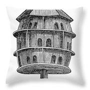 Birdhouse, 19th Century Throw Pillow