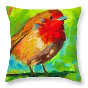 Birdie Bird - Robin Throw Pillow