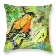 Birds 01 Throw Pillow