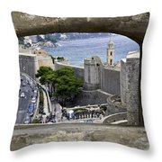 Bird's Eye View Of Dubrovnik Throw Pillow