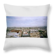 Panoramic Paris Throw Pillow